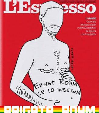 La copertina dell'Espresso in onore della Brigata Rohm